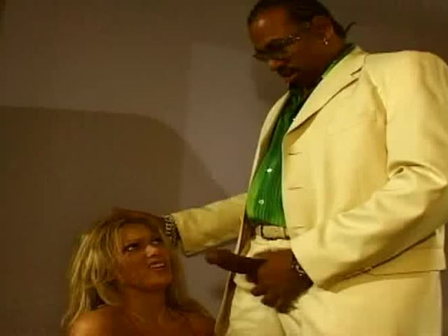 Sexy blonde having anal with black driller