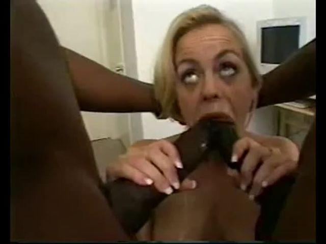 sexy blonde having double penetration